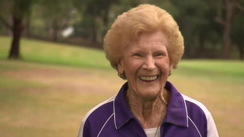 Joyce Willcox is smashing life- and golf balls- at 90 years old. (9NEWS)