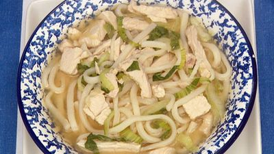 "Recipe: <a href=""http://kitchen.nine.com.au/2016/05/17/12/26/chicken-miso-and-noodle-soup"" target=""_top"">Chicken miso and noodle soup</a>"