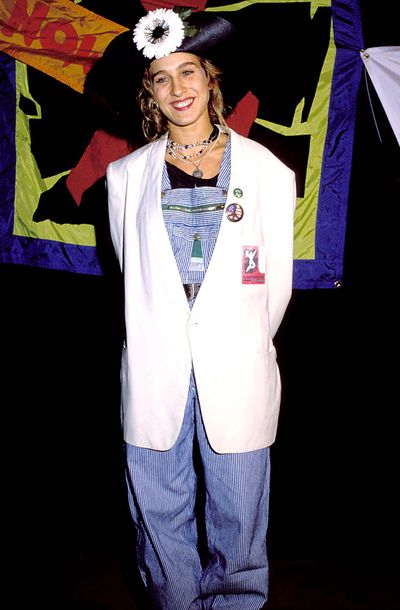 Sarah Jessica Parker at the 1988 Amnesty Concert in Los Angeles