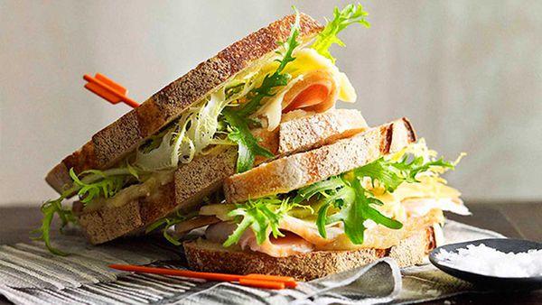 Thomas Keller turkey sandwich with apple butter