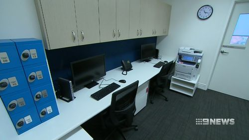 Nurses' stations have been discreetly placed in back of house. Picture: Nine