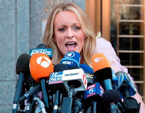 Daniels has claimed she had a one-night stand with the now-President. (AAP)