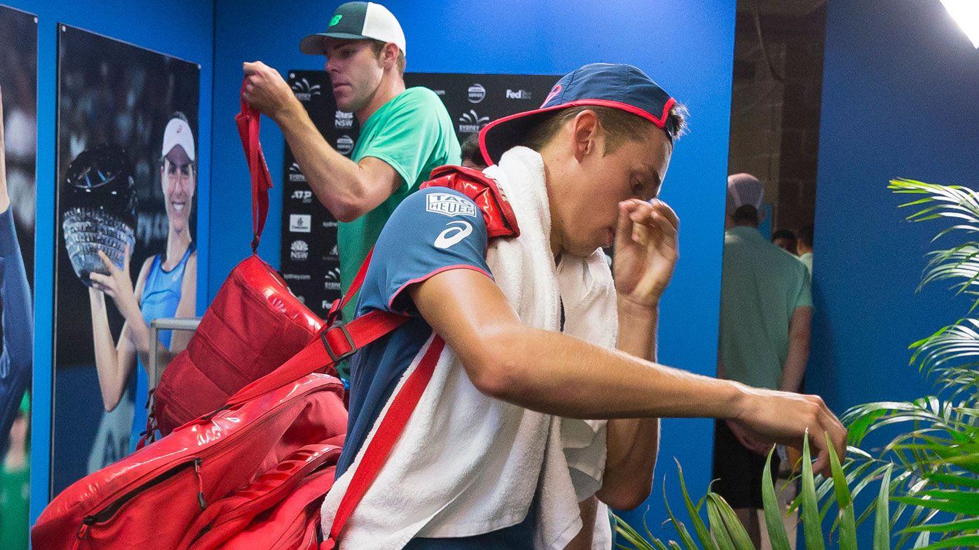 Sydney International day three: Night match featuring Alex de Minaur 'cancelled' due to heavy rain