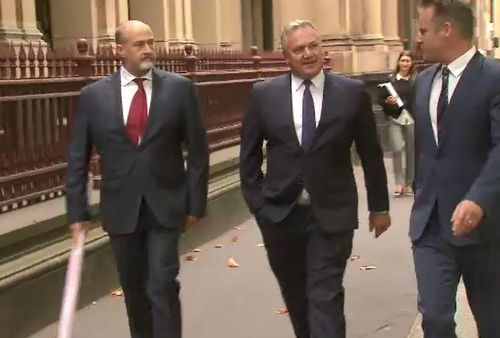 The Channel 7 presenter was slammed by Justice Lex Lasry for language used during the 25 second report. (9NEWS)