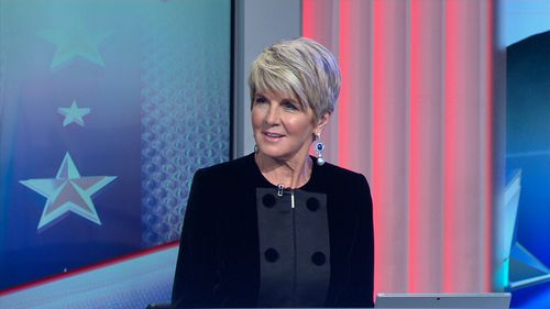 Julie Bishop was unflinching when asked if there was someone she would like to kick.