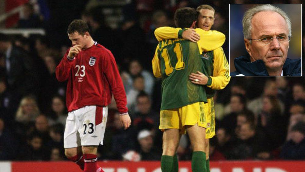 Australia defeat England in 2003 and (inset) former England coach Sven-Goran Eriksson. (Getty and AAP)