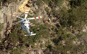 Rock climber 'falls up to 10 metres' off cliff in Sydney bushland