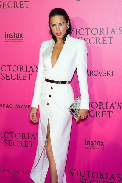 Adriana Lima at the Victoria's Secret Fashion Show after party at Le Grand Palais, Paris.