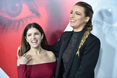 Anna Kendrick and Blake Lively attend the New York premier of 'A Simple Favor', September 10.