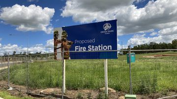 The site of the proposed Oran Park Fire and Rescue NSW station.