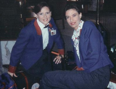 The couple met while both working as airline stewardesses.