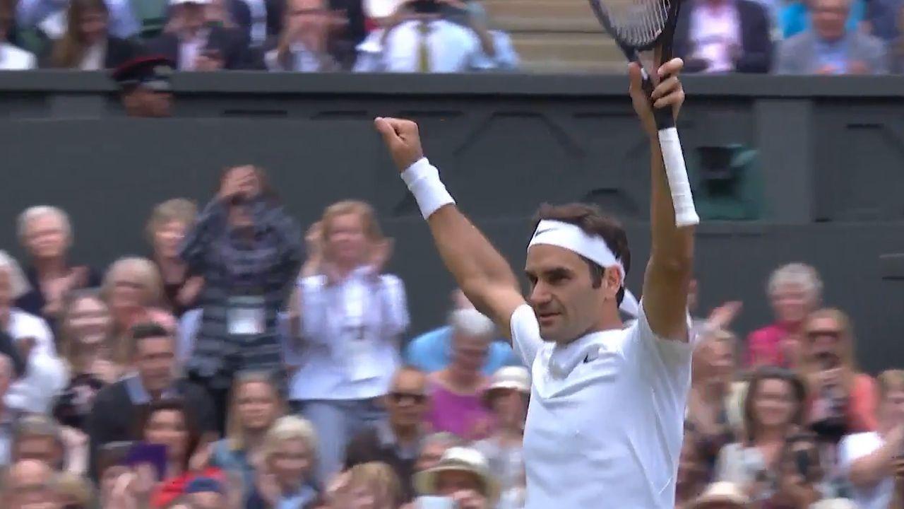 Federer qualifies for Wimbledon final