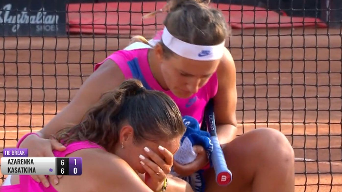Victoria Azarenka's 'touching' gesture after opponent's fall at the Italian Open