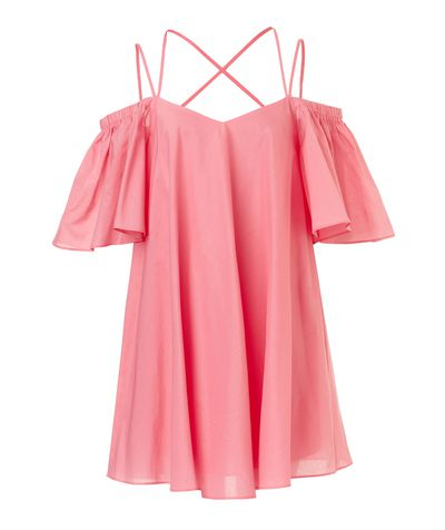 "<p><a href=""http://www.sportsgirl.com.au/clothing/dresses/off-shldr-poplin-dress-candy-pink"" target=""_blank"">Sportsgirl Off Shoulder Poplin Dress, $99.95.</a></p> <p>Flirty, fun and definitely not white - this pastel pink dress is just right for casual Fridays.</p>"