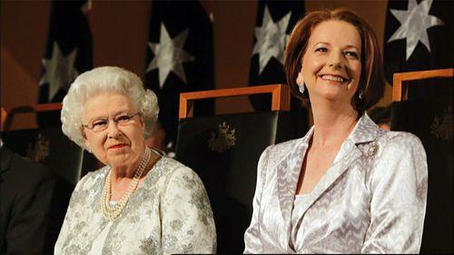 Gillard takes swipe at Abbott over Prince Philip knighthood