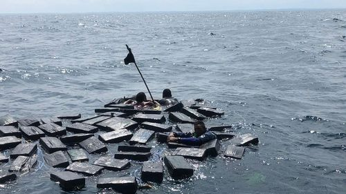 The Colombian Navy recused them about 50 kilometres from Tumaco on Colombia's Pacific coast