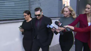 Jonathan Lawrence outside of Brisbane Court today.