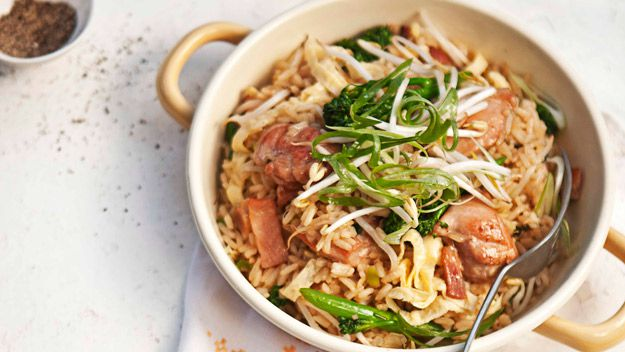 Chicken and broccolini fried rice
