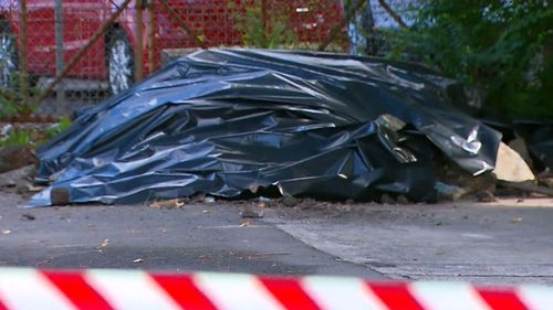 The asbestos was found at Hillside Avenue, Clemton Park. Picture: 9NEWS