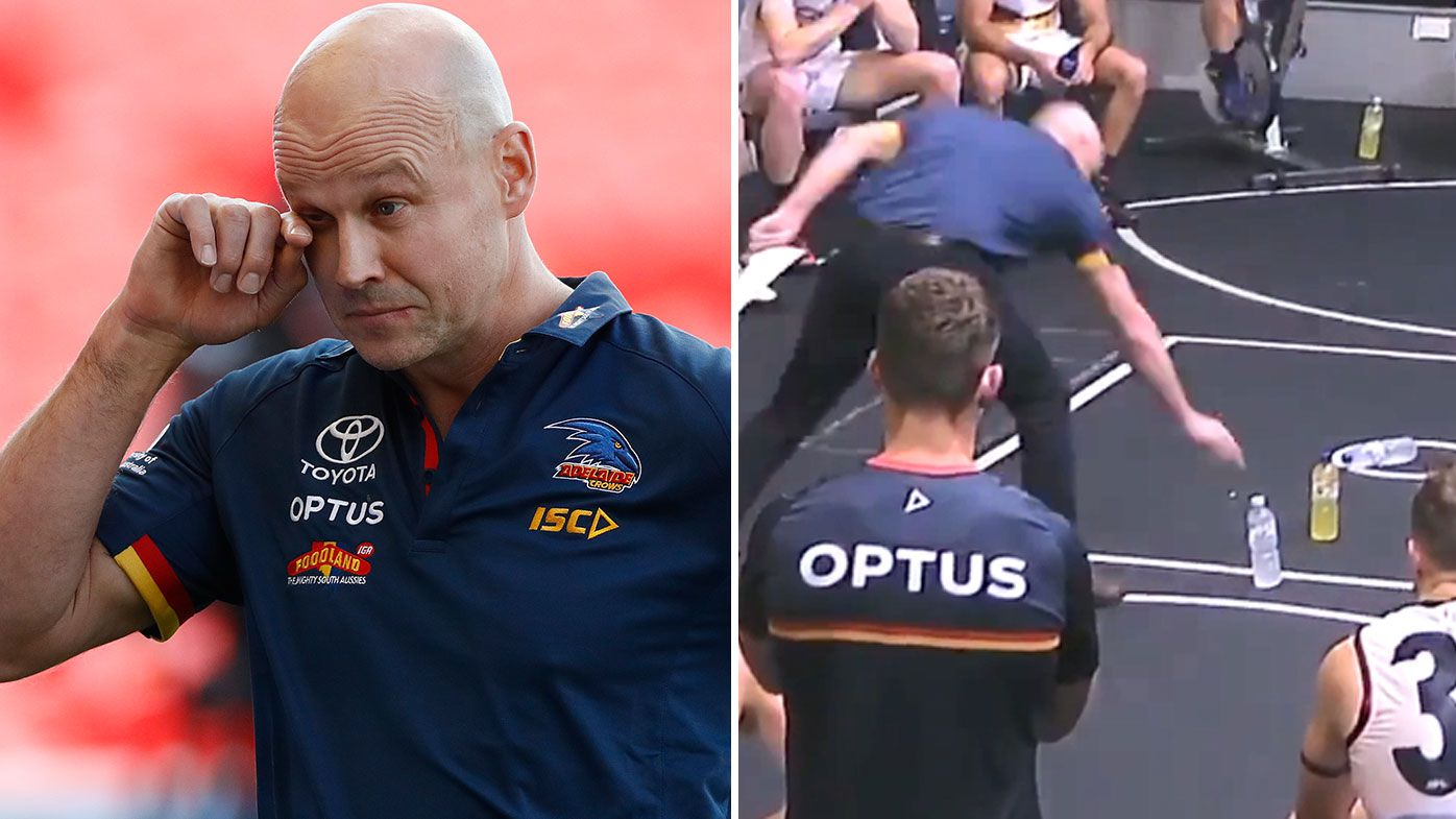 Adelaide coach Matthew Nicks apologises to fans, raises eyebrows with 'Under 10's' half-time tactic