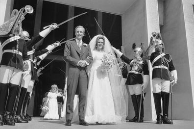 Camilla Shand and Andrew Parker-Bowles married in July 1973.