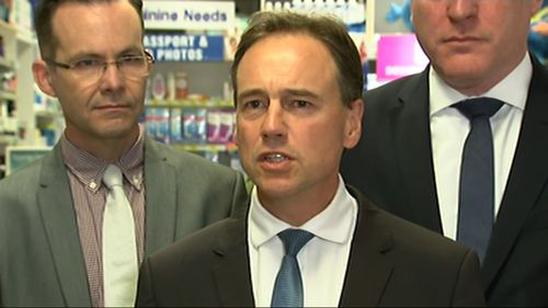 Federal Health Minister Greg Hunt today announced an effective HIV prevention medicine will be government subsidised in being listed on the Pharmaceutical Benefits Scheme. Picture: 9NEWS.