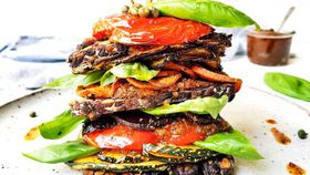 Roast vegetable stack