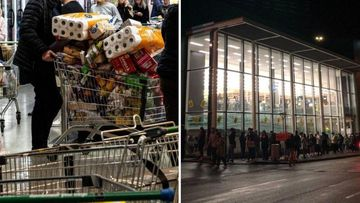 NZ shoppers 'panic buying' within hours of lockdown announcement