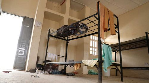Students' belongings are seen inside the hostel of a Government Girls Junior Secondary School following an attack by gunmen in Jangebe, Nigeria.