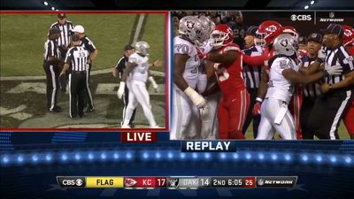 NFL: Oakland Raiders running back Marshawn Lynch ejected after unsportsmanlike conduct in win over Kansas City Chiefs