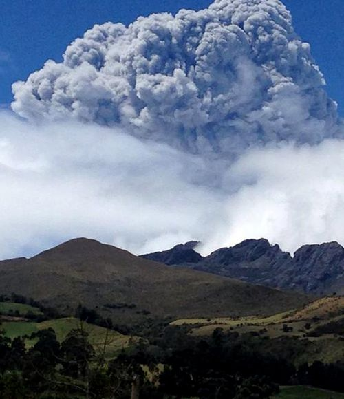 Volcano in Ecuador erupts for first time since 1877
