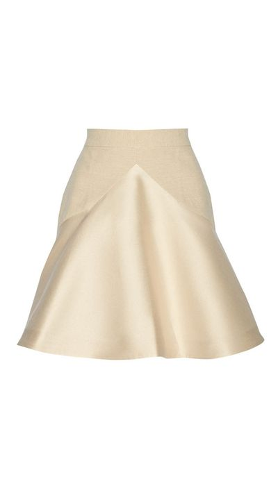 "<a href=""http://www.theoutnet.com/en-AU/product/Stella-McCartney/Lesley-slub-cotton-blend-and-satin-skirt/552436"">Lesley Slub Cotton-Blend and Satin Skirt, approx. $423, Stella McCartney</a>"