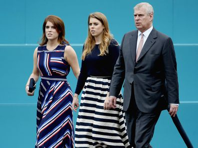 Prince Andrew with his daughters Princess Eugenie (left) and Princess Beatrice.
