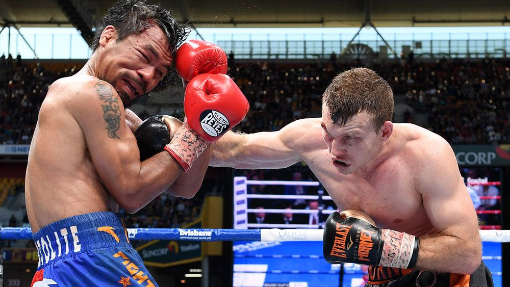 Manny Pacquiao (l) and Jeff Horn.
