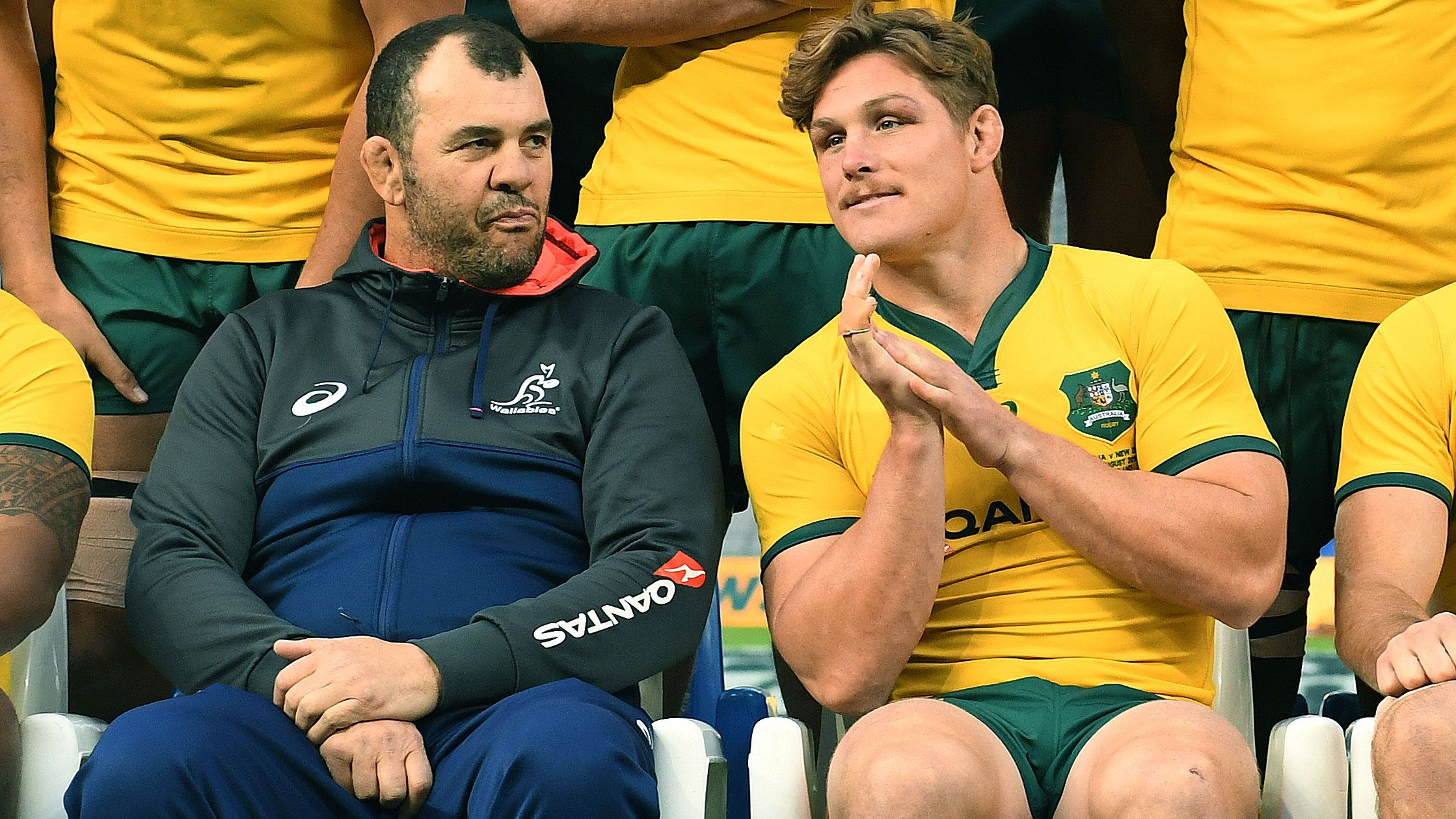Michael Cheika and Michael Hooper