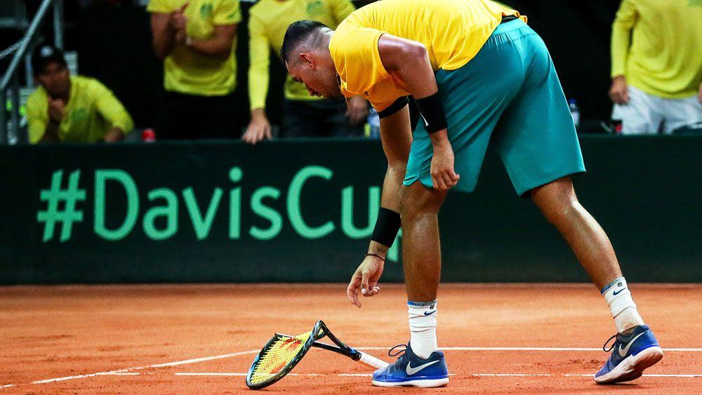Australian Davis Cup coach Lleyton Hewitt despondent after Belgium Cup defeat