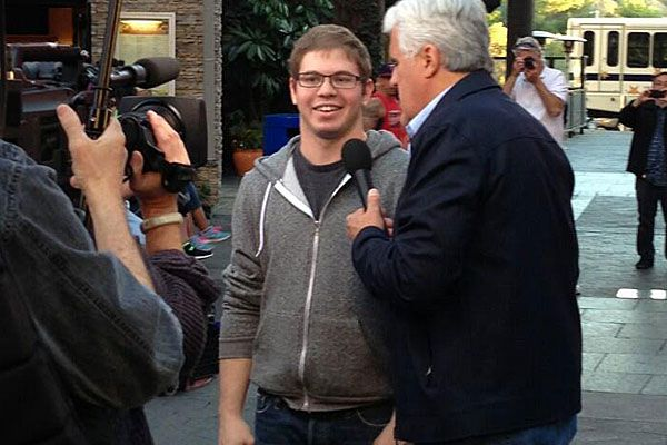 In the spotlight: Avi Zolty pictured here in 2013 with US talkshow host Jay Leno. (Twitter)