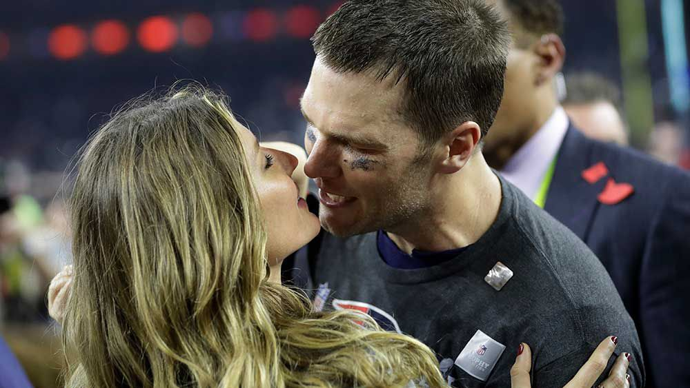 Brady ignores wife's pleas to quit NFL