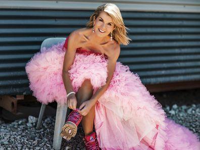 Julie Bishop dresses up for Frocktober