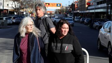 Family of Brandon Harris leave the Adelaide District court, Adelaide.