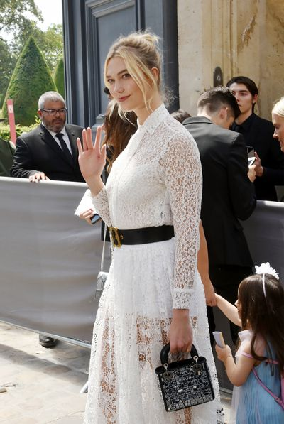 Supermodel Karlie Kloss at Christian Dior Haute Couture A/W 18/19 show in Paris, July 2018