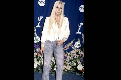 <b>Where she wore it:</b> The 52nd Annual Emmy Awards, 2000.<br/><br/><b>The look:</b> Oh, Cher. That's all we can say about this one.
