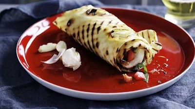 "Click through for our <a href=""http://kitchen.nine.com.au/2016/05/17/11/04/cassone-di-caprese-piadina-wrap-with-tomato-basil-and-mozzarella"" target=""_top"">cassone di Caprese (piadina wrap with tomato, basil and mozzarella)</a> recipe"