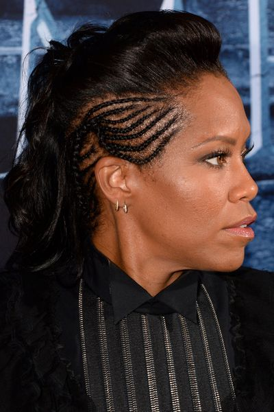 Actress Regina King's plaited undercut brought the perfect amount of <em>GOT</em> drama.&nbsp;