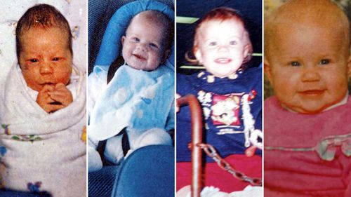 Caleb, Patrick, Laura and Sarah Folbigg all died before their 2nd birthday.
