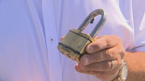 Mr Sidari said thieves forced open a heavy-duty padlock of his used-car dealership.
