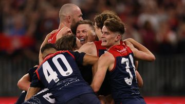 PERTH, AUSTRALIA - SEPTEMBER 25: during the 2021 AFL Grand Final match between the Melbourne Demons and the Western Bulldogs at Optus Stadium on September 25, 2021 in Perth, Australia. (Photo by Paul Kane/Getty Images)