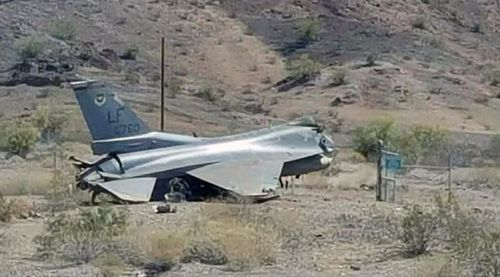The jet crashed after failing to land properly at an airport in Arizona. (Havasu News)