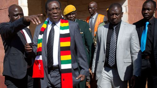 President Emmerson Mnangagwa, who took power last year after a military takeover forced out former leader Robert Mugabe, had won two-thirds of the seats in the national parliament. Picture: AAP
