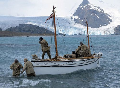 A re-enactment of Shackleton's epic escape to South Georgia was staged in 2013. (AP).